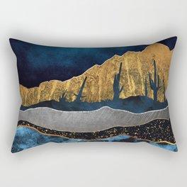 Midnight Desert Moon Rectangular Pillow