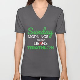 Sunday Mornings Are For Triathlon Unisex V-Neck