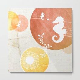 Ocean Series - Papa Seahorse Metal Print