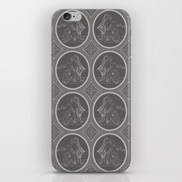 Grisaille Charcoal Grey Neo-Classical Ovals iPhone Skin