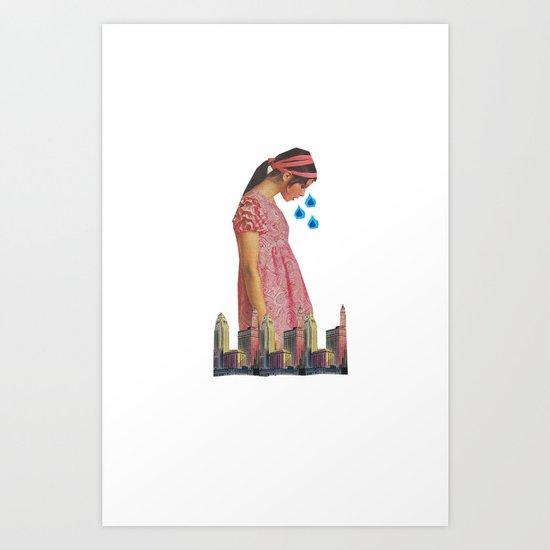 Teary Cities Art Print