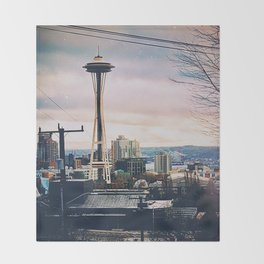 Space Needle Vibes Throw Blanket