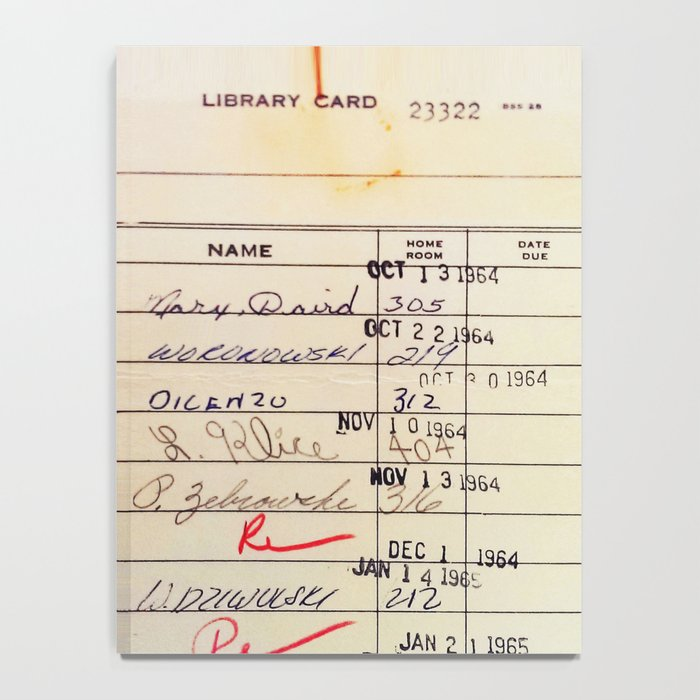 Library Card 23322 Notebook