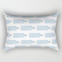 Vintage Bottle Stripes Rectangular Pillow