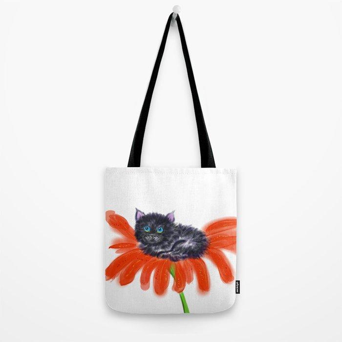 Spookie in the Flower #1 Tote Bag