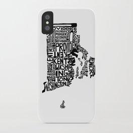 Typographic Rhode Island iPhone Case