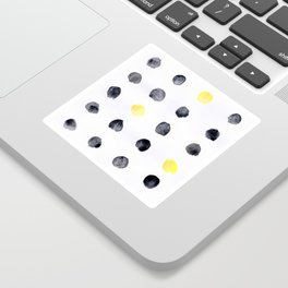 Black and Yellow Dots Sticker