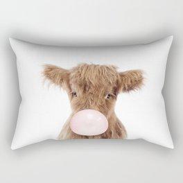 Bubble Gum Highland Cow Baby Rectangular Pillow