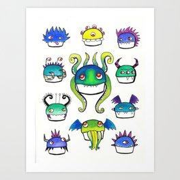 Lovecraftian Monster Cupcakes Art Print