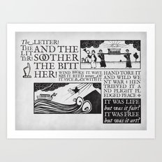 the letter! the litter! Art Print