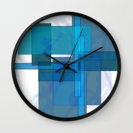 Squares combined no. 1 Wall Clock