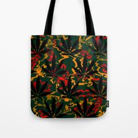 rasta Tote Bags featuring Rasta Leaves... by Cherie DeBevoise