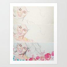 mam watercolor acuarela  Art Print