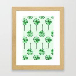 Mint Lollipop Framed Art Print