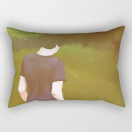 Looking Down Rectangular Pillow