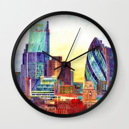 Sunshine in London Wall Clock