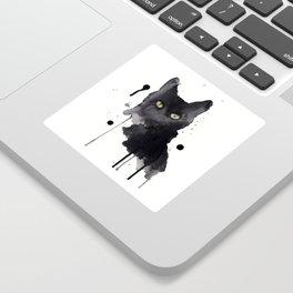 Black cat watercolor Sticker