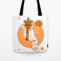 sailormoon Tote Bags featuring Venus by scoobtoobins