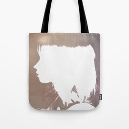 White Silhouette  Tote Bag