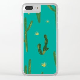 Desert Vibes Teal Clear iPhone Case