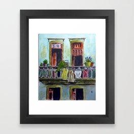 Cuban Balcony Framed Art Print