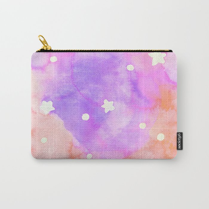 Starry Sky Raspberry Milkshake Carry-All Pouch
