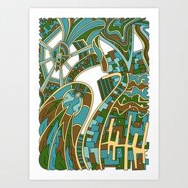 Wandering 42: color variation 3 Art Print