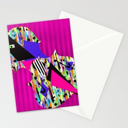 Cello Abstraction on Hot Pink Stationery Cards