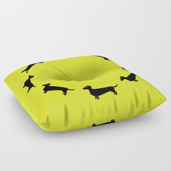 Angry Animals: Dachshund Floor Pillow