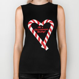 Candy Cane - It's Christmas, Baby! #xmas #christmas #minimal #love #design Biker Tank