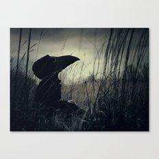 Thoughtful Plague Canvas Print