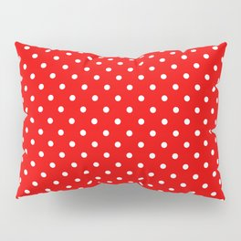 Red with white polka dots Pillow Sham
