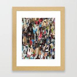Indistinct Shouting Framed Art Print