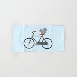 Squirrel Riding Bike Hand & Bath Towel