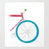 Push  Bike Art Print