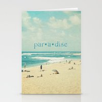 paradise Stationery Cards featuring paradise by Sylvia Cook Photography