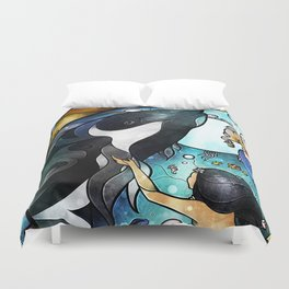 Friend of the Maidens Duvet Cover