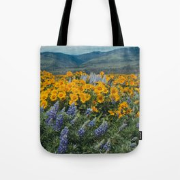 Oregon Spring Wildflower Hillside Tote Bag