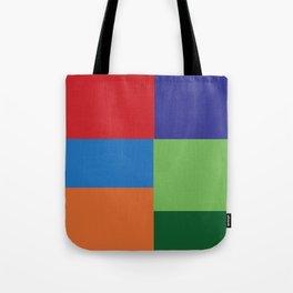 Multi Color squares Tote Bag