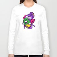 larry Long Sleeve T-shirts featuring Larry Boy by Artistic Dyslexia