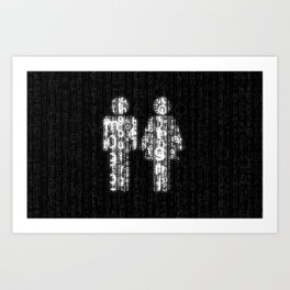 Love in Cyberspace Art Print