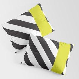 Memphis milano black yellow Pillow Sham