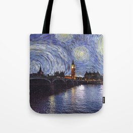 starry night over london Tote Bag
