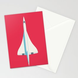 Concorde Supersonic Jet Airliner - Crimson Stationery Cards