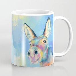 Carefree Donkey - Digital and Colorful Animal Illustration Coffee Mug