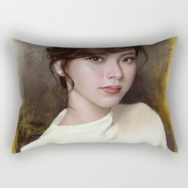 Portrait of Baifern Pimchanok Luevisadpaibul Rectangular Pillow