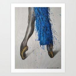 Expression of ballet Art Print