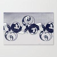 yin yang Canvas Prints featuring Yin & Yang by Charity Ryan