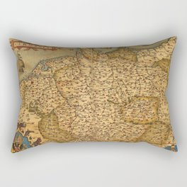 Old map of Germany 1570 Rectangular Pillow