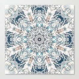 Neutral Soft Palette Tone Bohemian Mandala Canvas Print